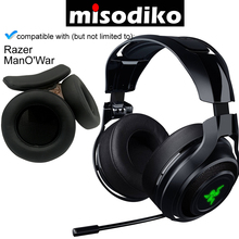 Сменные амбушюры misodiko и повязка на голову для Razer ManOWar 7,1, беспроводная/Проводная игровая гарнитура, ремонтные амбушюры
