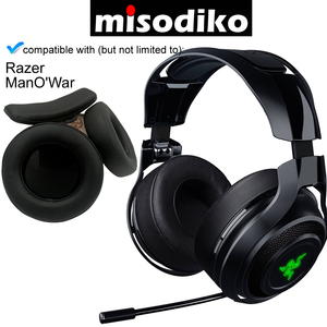 Image 1 - misodiko Replacement Ear Pads Cushions and Headband   for Razer ManOWar 7.1 Wireless / Wired Gaming Headset, Repair Earpads