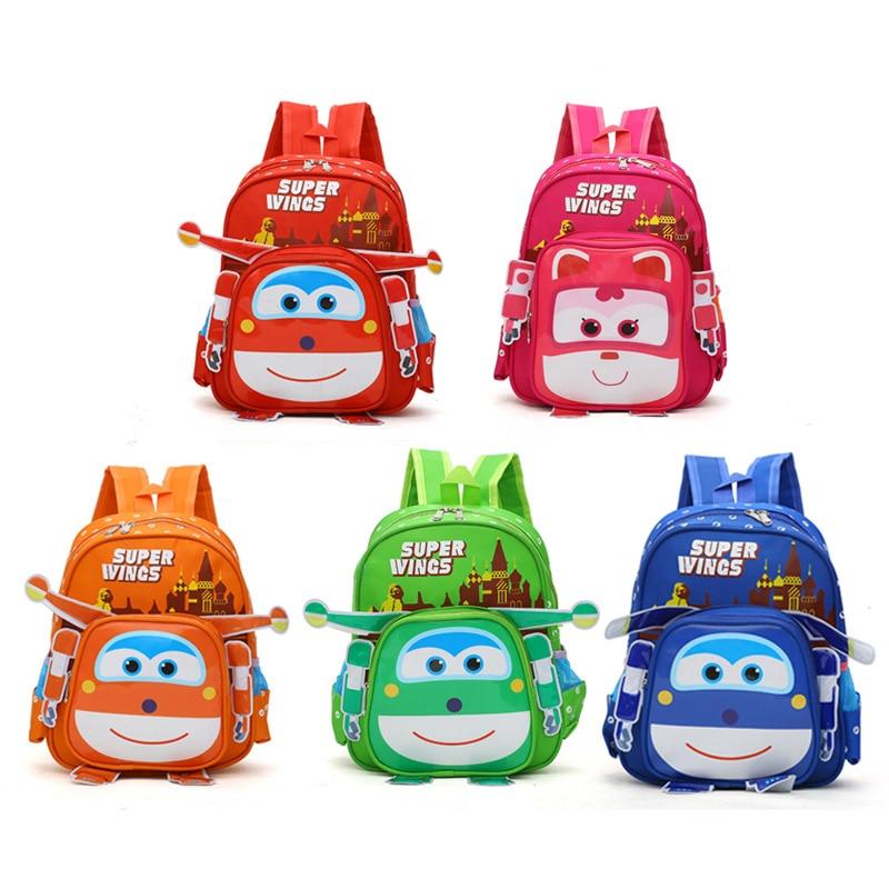 3D Bags For Kids New Super Hero Wings Plush Children's Backpack Baby Plush Bags Plush Lovely Satchel Schoolplush Knapsack