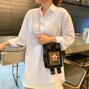 Image 3 - クリエイティブレーザーロボットカラフルな女性のための女性の人格デザインチェーンクロスボディバッグレディース夏電話財布バッグ