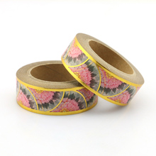 New colorful wave Foil Washi Tape Quality Stationery Diy Tools Kawaii Scrapbook Paper Christmas decoration washi tape