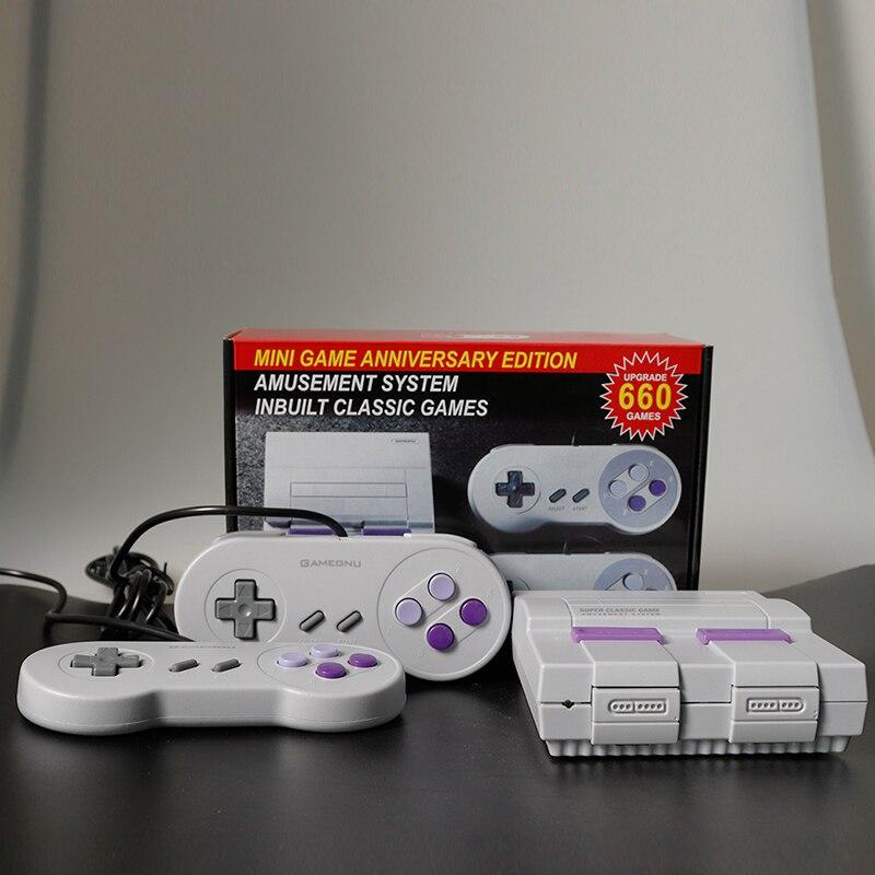 Jeu Super classique Mini TV 8 bits famille TV Console de jeu vidéo intégré 660 jeux lecteur de jeu portable garçon cadeau d'anniversaire
