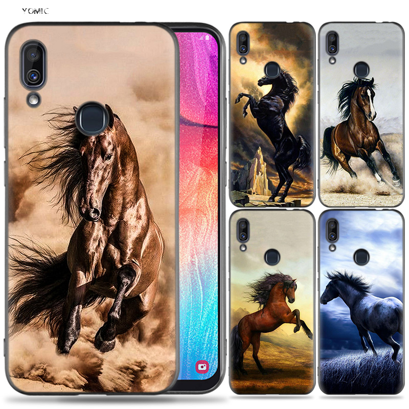Silicone <font><b>Case</b></font> for <font><b>Samsung</b></font> <font><b>Galaxy</b></font> A30 <font><b>A50</b></font> A10 A20 A70 A40 M10 M20 M30 A6 A8 J4 J6 J8 Plus A7 A9 2018 <font><b>Horse</b></font> Series image