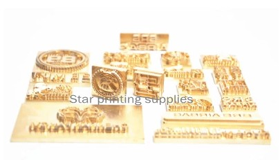 Hot stamping copper mold brass mould customized making 5x10cm customized hot foil stamping brass plate customized debossing die cut debossing mould