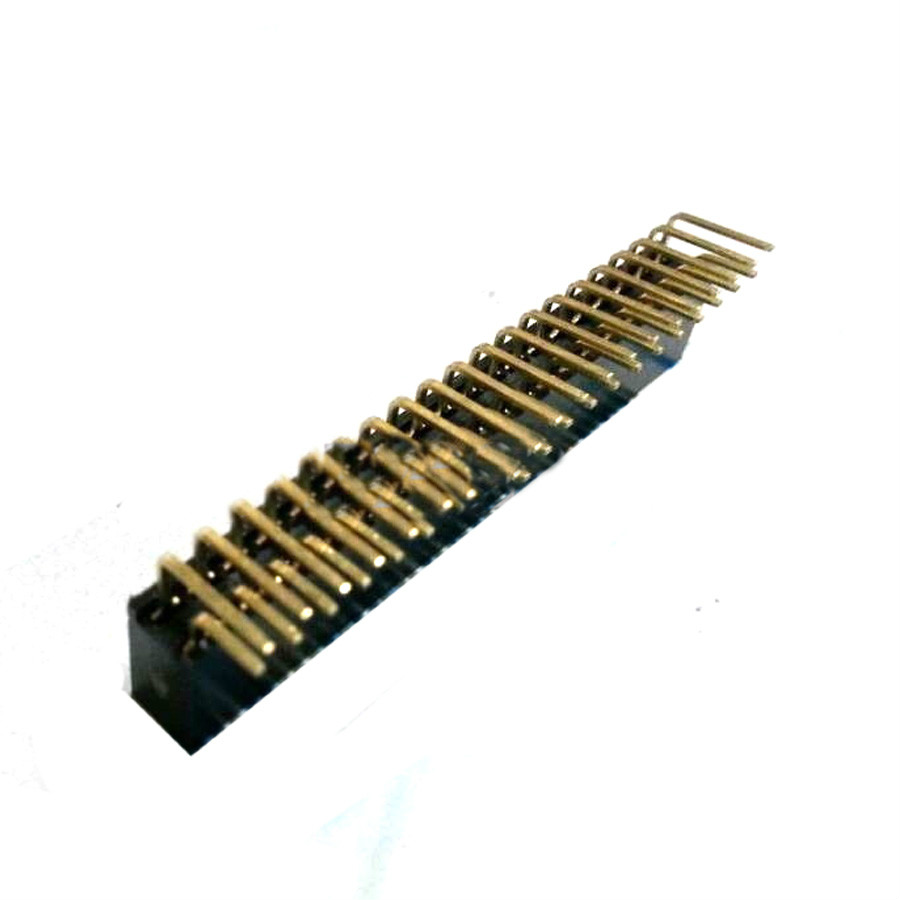 2018 10pcs Pitch 2.54mm 2x20 Pin 40 Pin Angle Female Double Row Bend Header connector 2 pcs new 2 54mm pitch 2x20 pin 40 pin female double row long pin header strip pc104