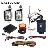 Easyguard 2 way motocicleta alarme de início remoto da motocicleta lcd pager display anti roubo alarme da motocicleta sensor choque|Alarme de assaltante|Automóveis e motos -