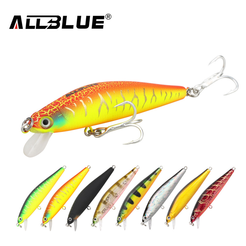 ALLBLUE New Minnow 70mm 6.5g 0.5-1M Dive Artificial Bait Plastic Hard 3D Eyes Fishing Lures Wobbler Fishing Bait Fishing Tackle allblue slugger 65sp professional 3d shad fishing lure 65mm 6 5g suspend wobbler minnow 0 5 1 2m bass pike bait fishing tackle
