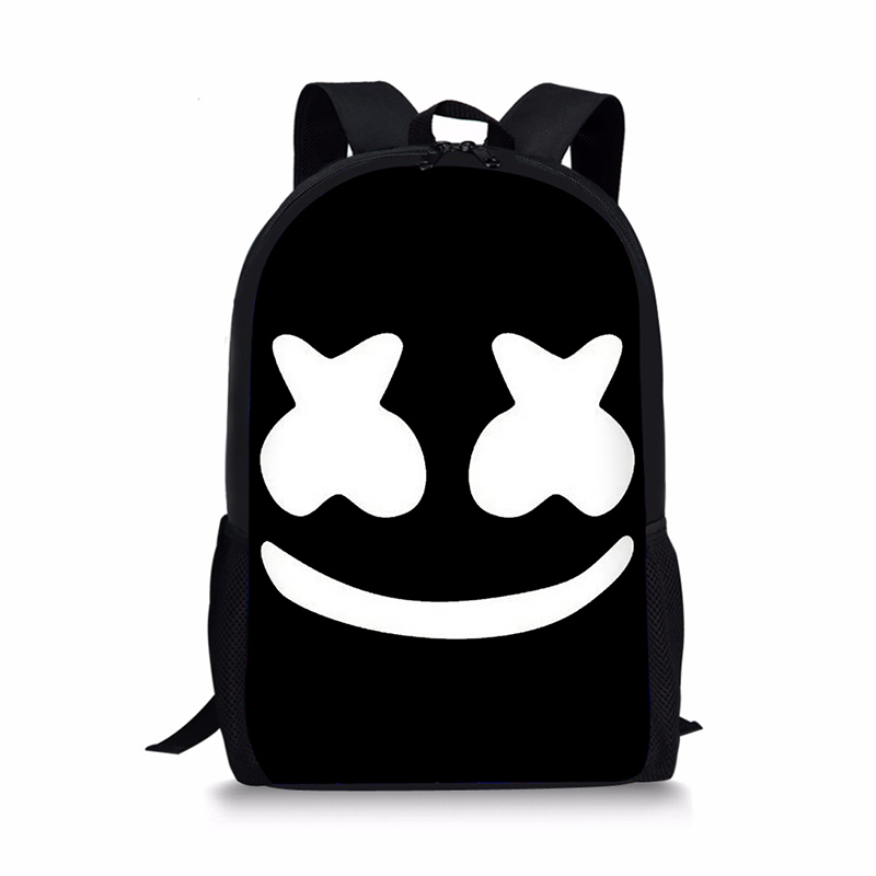 School Bag for Kids Boy Girls Backpack 3D Marshmello Printing Backpack Female Schoolbag School Supplies Satchel Casual Book Bag 2015 cool spiderman backpack new arrival child schoolbag baby boy kids school bag good quality bag for age