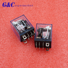 1Pc LY2NJ HH62P HHC68A-2Z Electronic Micro Mini Electromagnetic Relay 10A 8PIN Coil DPDT DC12V,24V AC110V 220V