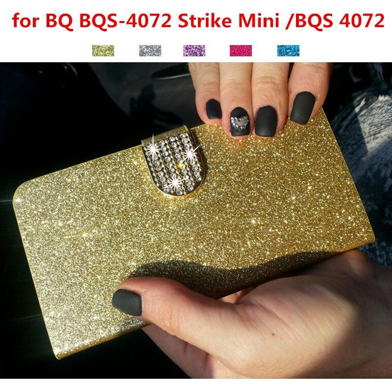 Cas de luxe Couverture pour BQ BQS-4072 Grève Mini/BQS 4072 D'origine Mobile Téléphone Cas Flip Couvre Funda Rose Coque capa