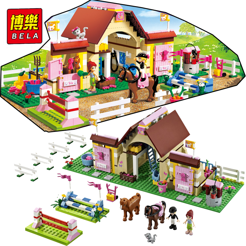 Bela 10163 Building Blocks Bricks HeartLake Stables Mary s farmhouse Horse Compatible Friends figures Toys for