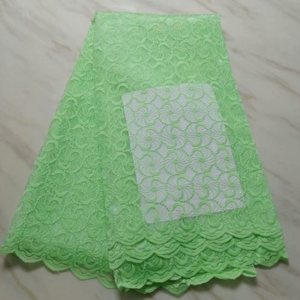 5yards lot 2019 New High quality emerald green Guipure African tulle lace French net lace
