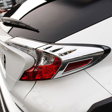 For Toyota C-HR Accessories ABS Chrome Auto Rear Light Lamp Cover Trim Tail Light Cover Frame Protector Sticker Car Styling car styling chrome front fog light taillight trim cover strip sticker for toyota chr c hr accessories 2019 2018 car accessories