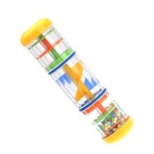"""Горячая """" детская погремушка дождь звук игрушки Музыкальный гаджет дождевик шейкер дети ребенок для раннего развития игрушки Колокольчик"""