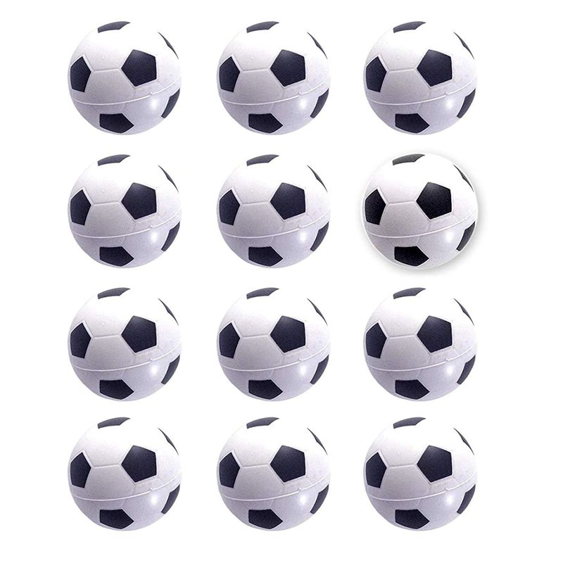 Mini Sports Balls For Kids Party Favor Toy, Football(12 Pack) Squeeze PU For Stress, Anxiety Relief, Relaxation