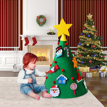 Happy New Year 3D DIY Felt Christmas Tree For Toddlers Kids Gift with Ornaments 2020 Merry Decoration for home navidad
