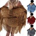 2016 Hot Sale Verão Mulheres Tops casaco xale de franjas