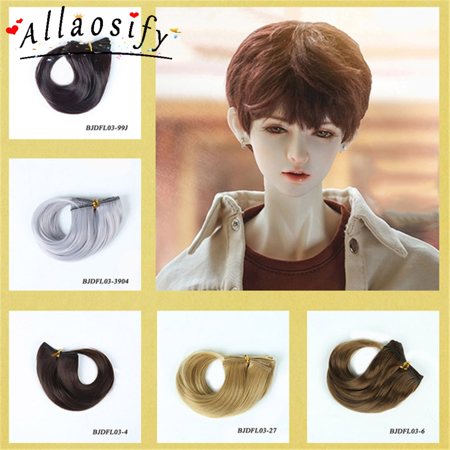 Allaosify AdditionalPay On Your Order 15*100cm Multicolor Gold Brown Black Silver 1/3 1/4 1/6 High Temperature Wire Wig BJD Hair