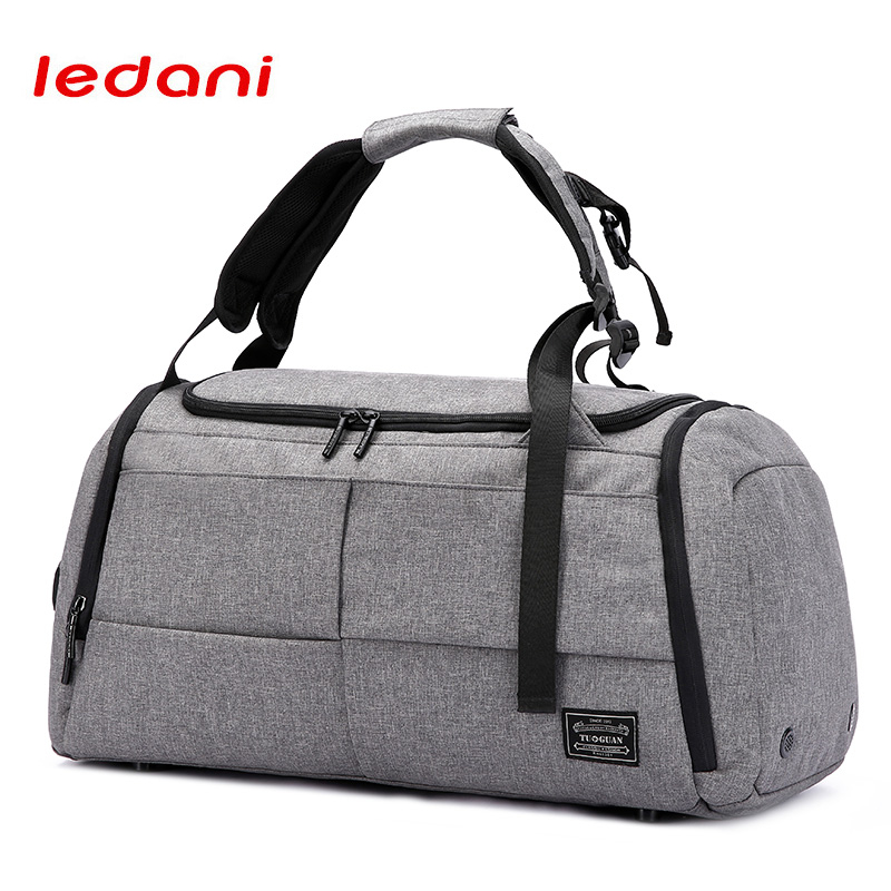 LEDANI Brand High Capacity Travel Bag Men Leisure Business Multifunction Rusksack Male Fashion Backpack Casual Handbag Women