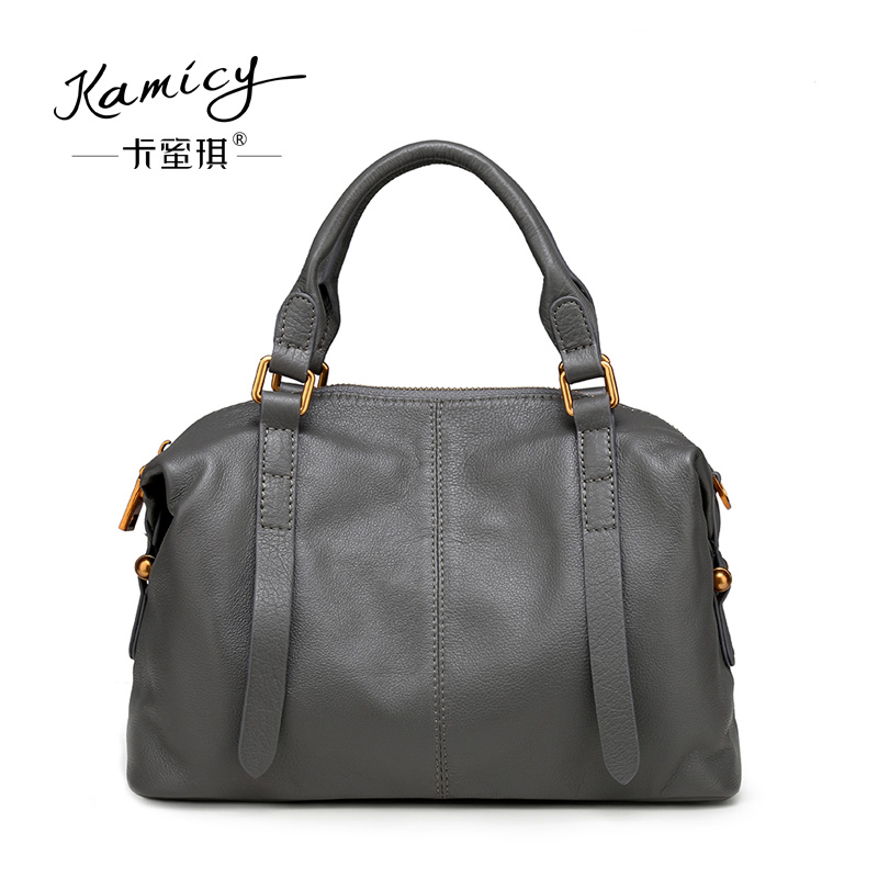 Здесь продается  kamicy  2018  new  Korean  female  bag  Crossbody  handbag  simple  all-match  British  occupation  leather  handbag  Камера и Сумки