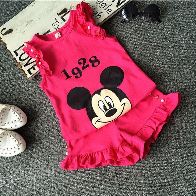 14920041429b6 NYSRFZ Summer Korean tracksuit children cartoon clothing sets baby girls  fashion princess clothes sets kids sport outfits suit-in Clothing Sets from  ...