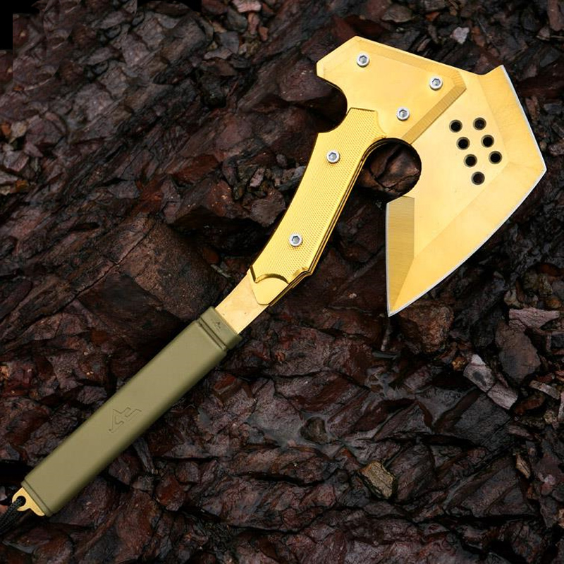 CF Gold Tomahawk Outdoor Camping Multifunction Axe Military Axe Car Emergency Survival Self Defense Hand Tools Ice Hatchet image