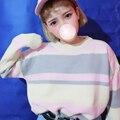 Otoño invierno rosa neón kawaii mujeres del suéter de punto jerseys jerseys lindo tire femme vetement sueter mujer jersey