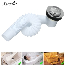 Xueqin DIY Bathroom Bathtub Pop Up Drains Bath Shower Basin Homemade Sink Drain Filter Strainer Waste Finished Drainer