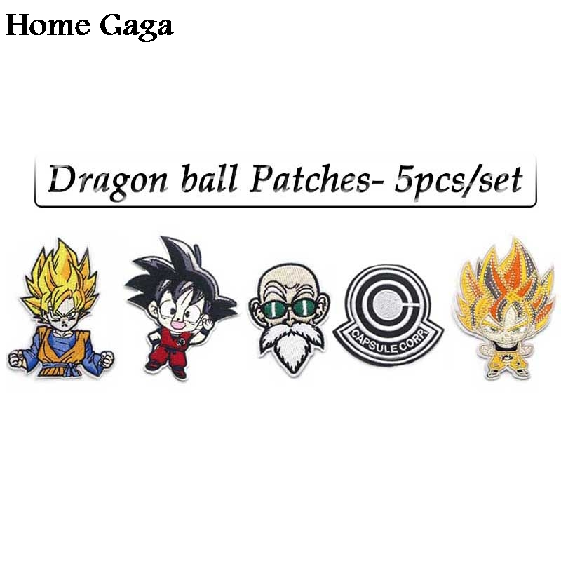 Honesty 3 Dragon Ball Z Goku Blue Patches For Backpack Diy Iron On Applique Japanese Anime Cosplay Full Embroidered For Clothing Diy Rock & Pop