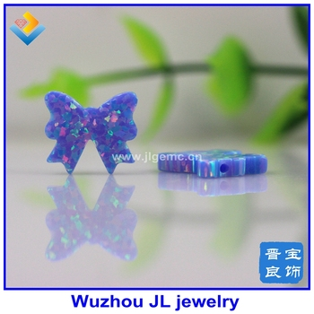 Fashion  11.5*12mm Synthetic Opal  Bow op74 Color New Shape  Opal Stone Free Shipping 10pcs/lot