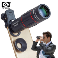 APEXEL 18X Telescope Zoom Mobile Phone Lens For IPhone Samsung Smartphones Universal Clip Telefon Camera Lens