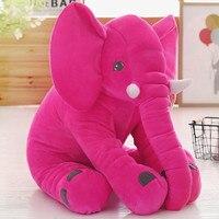 Grande 60x50 cm hot pink elephant peluche morbido cuscino di tiro regalo Di Natale b0178