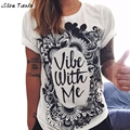 Women T-Shirt Hip-Hop Street Loose Summer Letter Printing Clothing Casual Tops Ropa Mujer #2415