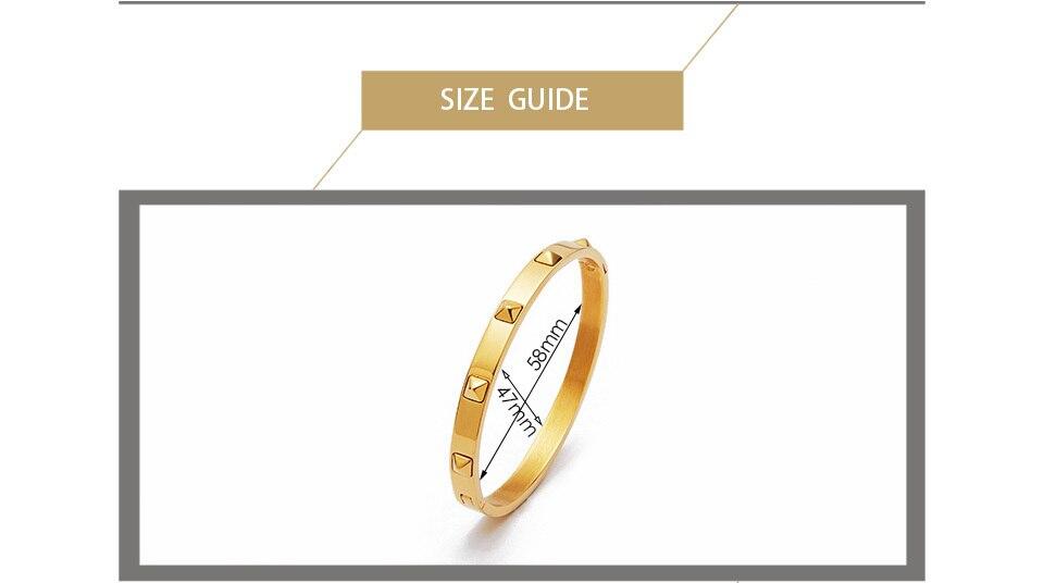 Enfashion браслет из шипы пирамиды нержавеющей стали золотого