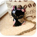 Long Chain 2016 Colorful Cat Necklace Enamel Pendant Charm Brand Jewelry For Women Girl New Animal Gift