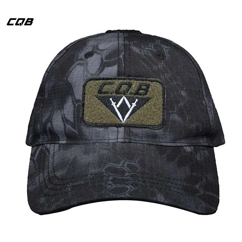 CQB Outdoor Sport Camping Military Cap Männer Camouflage Einstellbare Hut Taktische Stickerei Unisex Caps Jagd Kappe