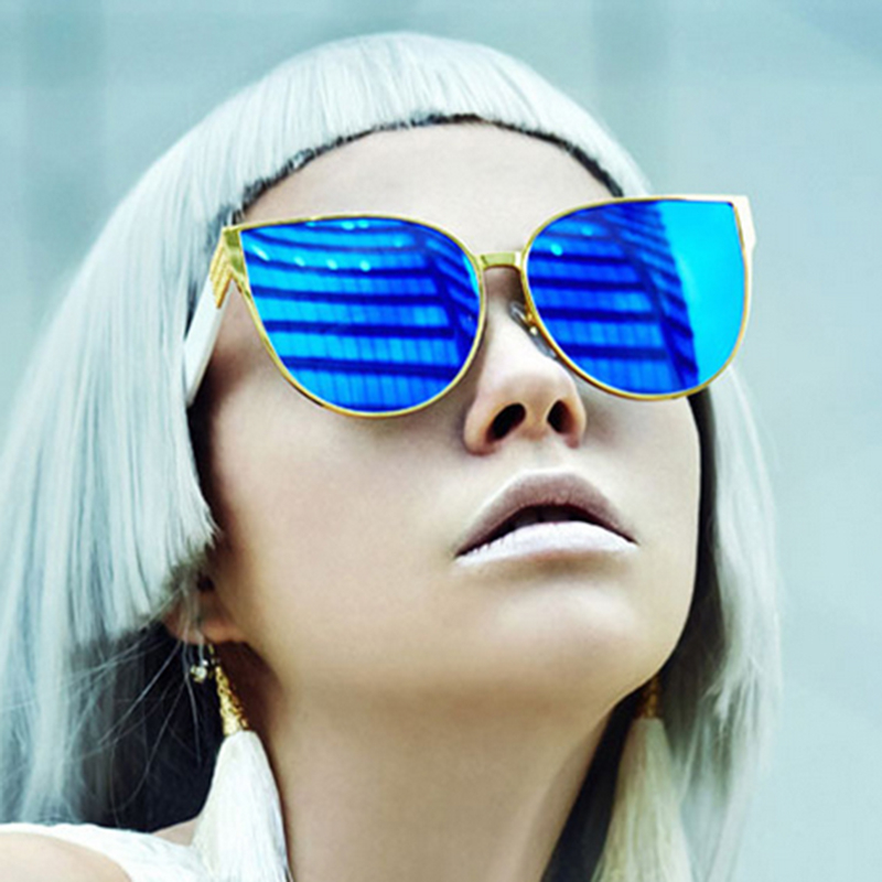 Oversized Mirrored Sunglasses  aliexpress com tshing 2017 new oversized cat eye mirrored