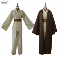 Star Wars Cosplay Jedi Knight Cosplay Costumes Suit Halloween Christmas Bar Party Costume Top Trench Belt Cummerbunds Girdle