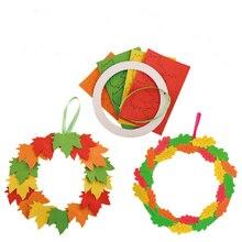 Juguete infantil DIY jardín de infantes EVA hojas colgante anillo tarjeta de felicitación educación temprana Día de la madre juguetes niñas manualidades niños
