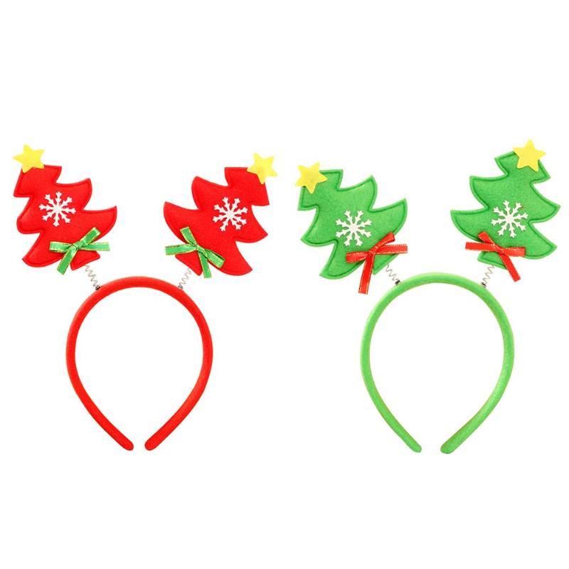 Adult Kids Christmas Tree Headband Xmas New Year Headwear Festival Party Decor Hairband