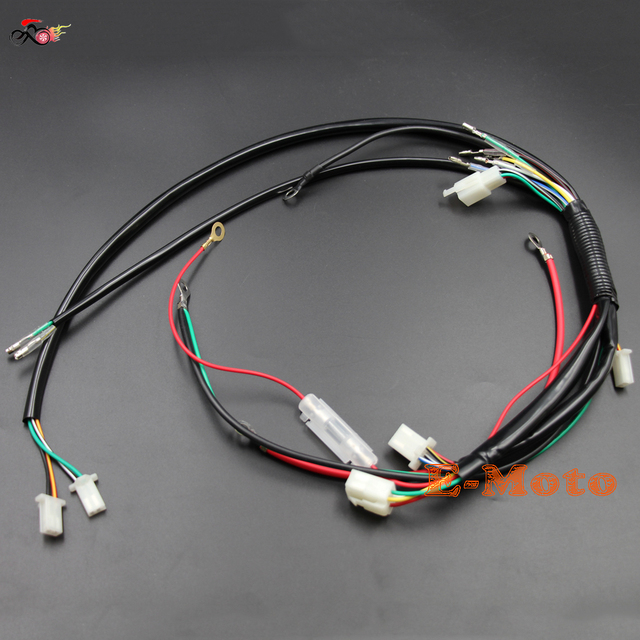 engine wiring harness loom for chinese 50cc 70cc 90cc 110cc 125cc rh aliexpress com wire harness looming machine wiring harness loom tape