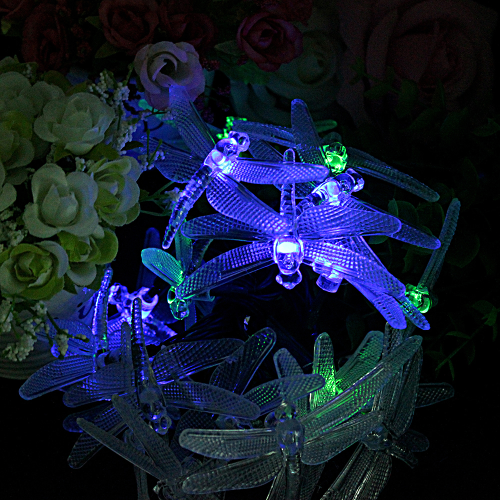 Aliexpress.com : Buy 8 Modes 20 LED Decoration String Lamps Dragonfly Shape  Solar Powered Garden Patio Lights Outdoor Decoration For Christmas Trees  From ...