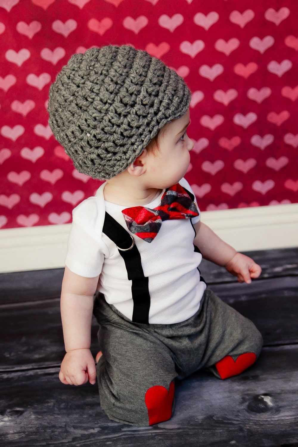 8097781cbec4 Cute Baby Boy Clothing Sets Bow Tie Bodysuit Suspenders Pants Tops ...