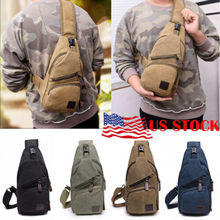 купить Men Canvas Outdoor Sport Sling Shoulder Small Bag Crossbody Chest Pack дешево