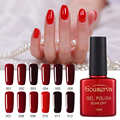 Most popular 12 colors Hot Sale Healthy and Eco-friendly Red Gel Nail Polish Soak Off Gel Lucky 10ML UV Nail Varnish Gouserv