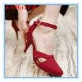 Завод на Продажу Женщин Насосы высокий каблук сандалии Летние Свадебные Туфли На Платформе Насосы большой size34-43Red, черный, синий