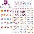 11 Листов/КОМПЛЕКТ BLE1951-1961 Бабочки и цветы Воды пропуск Ногтей Наклейки дизайн ногтей для ногтей аксессуаров воды перевода стикер
