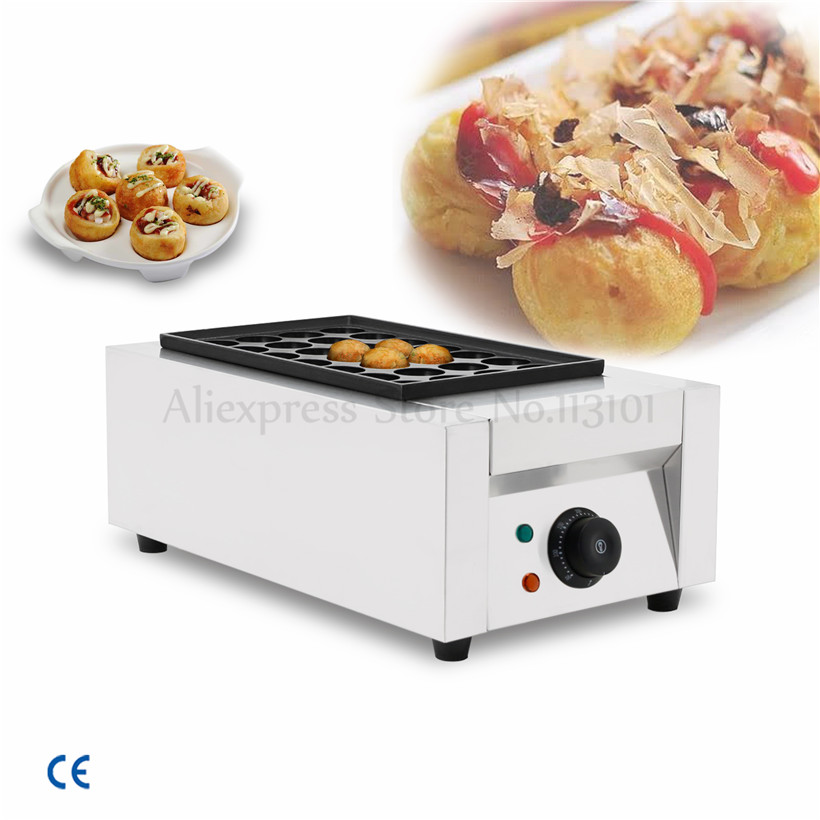 Stainless Steel Commercial Takoyaki Gill Machine Japanese Octopus Ball Takoyaki Maker Hole Diameter 40mm/45mm 220V/110V цены