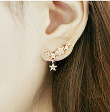 Earrings for Women Fashion Crystal Flower Stud