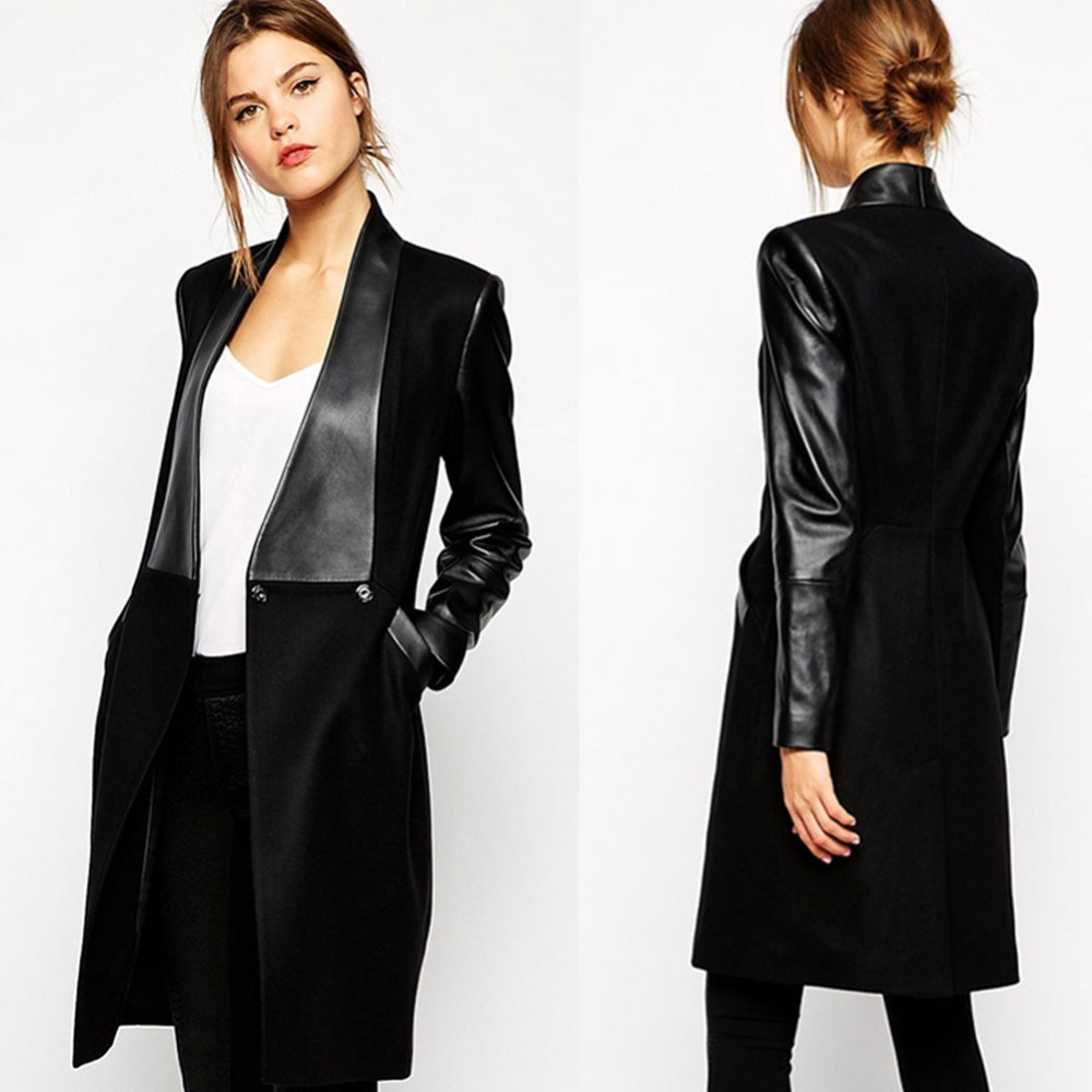Popular Leather Collar Wool Coat-Buy Cheap Leather Collar Wool